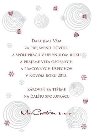Vianočný pozdrav 104VP